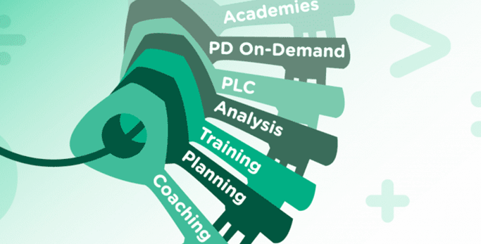 graphic of professional development keys
